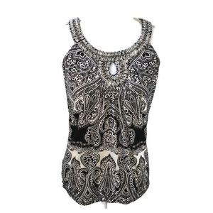 Inc International Racerback Gem Neckline